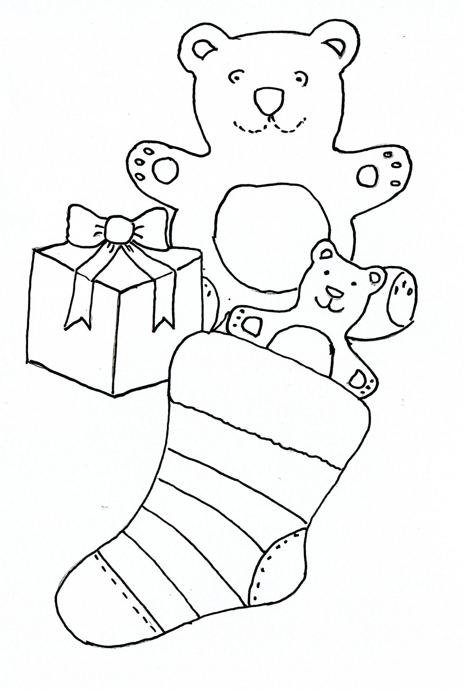 Kids Drawing Templates Stocking