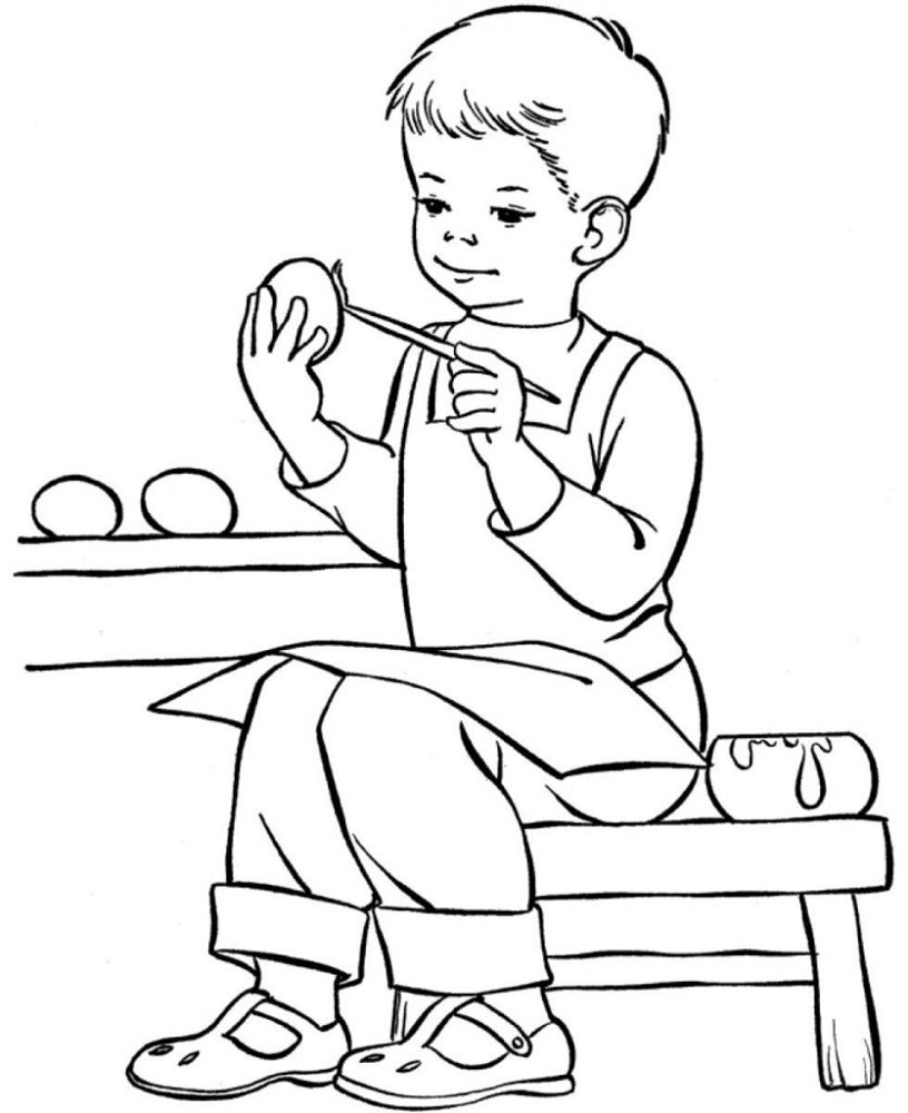 Picture to Coloring Page Boys