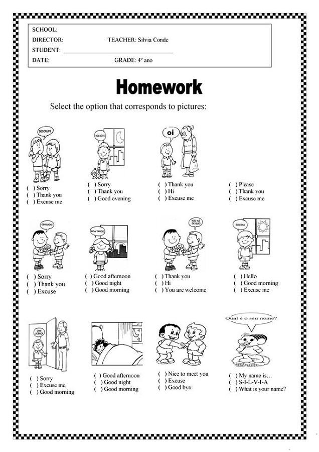 Work Sheets Children