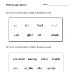 1st Grade Worksheets English
