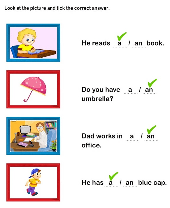 A and An Worksheets Free Printable Toddlers