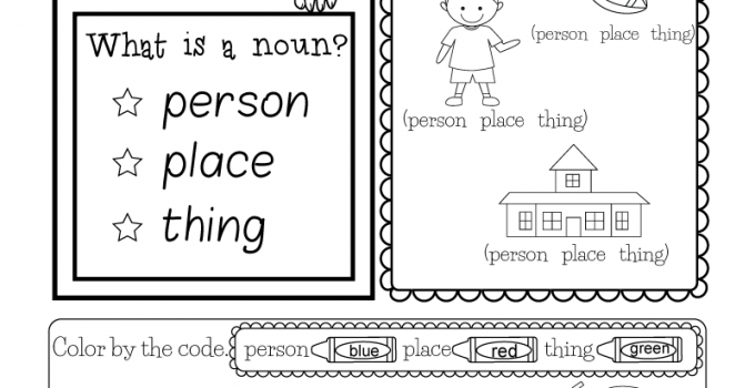 English for Kindergarten Free Worksheet Printable