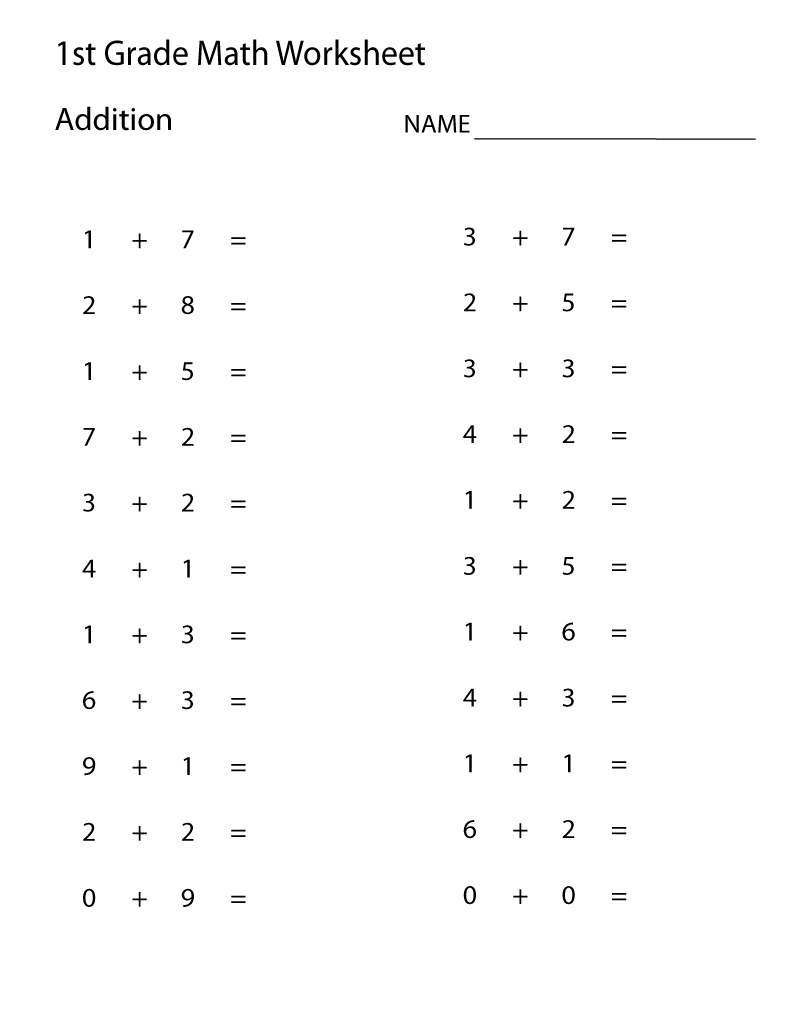 Easy Math Problems Worksheets
