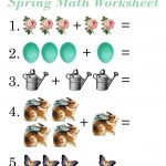 Easy Math Worksheets Spring