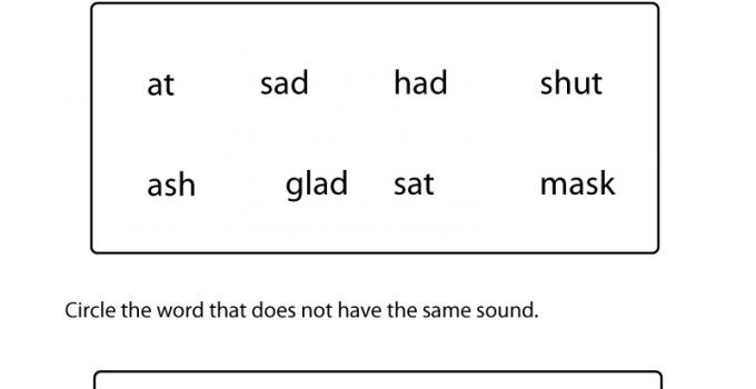 First Grade English Worksheets Phonics