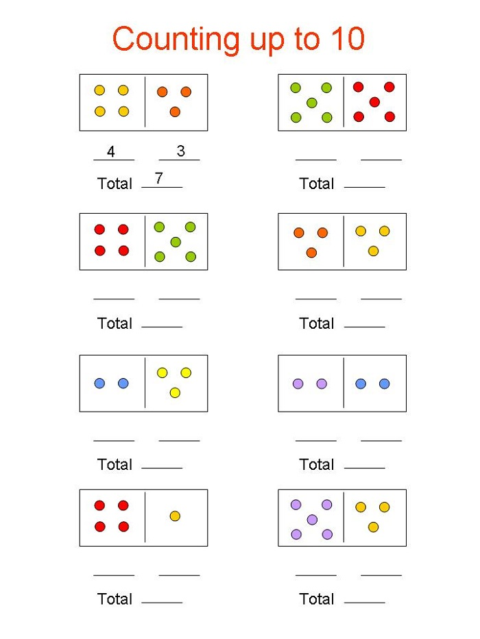 Kindergarten Learning Worksheets Counting