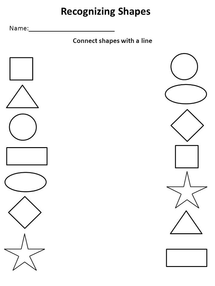 Kindergarten Learning Worksheets Shape