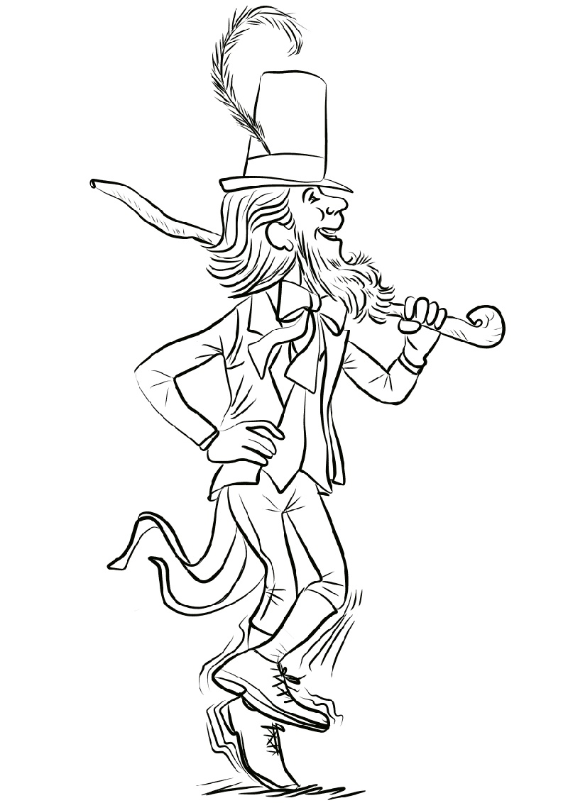 Leprechaun Coloring Pages Dancing