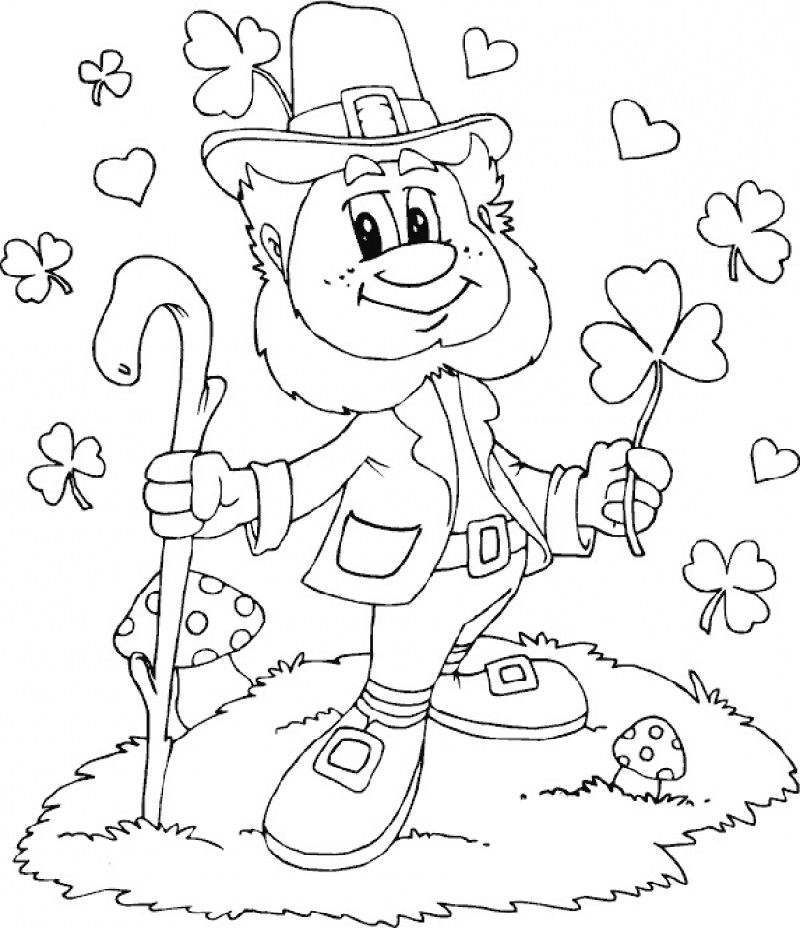 Leprechaun Coloring Pages Printable