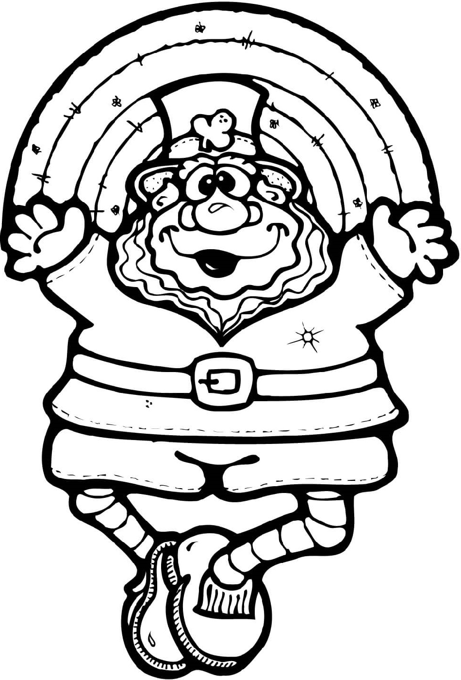 Leprechaun Coloring Pages Rainbow