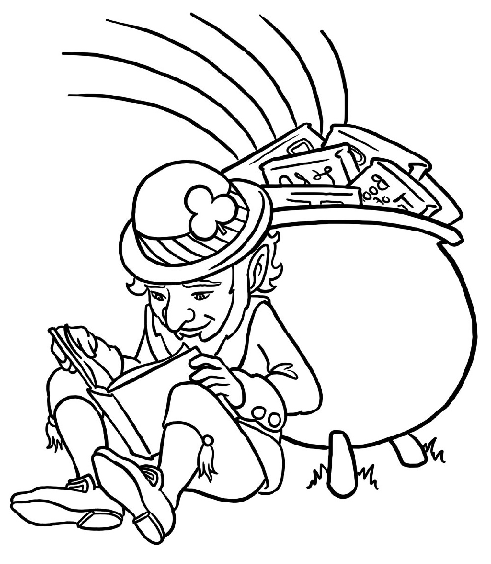 Leprechaun Coloring Pages St Patrick Day