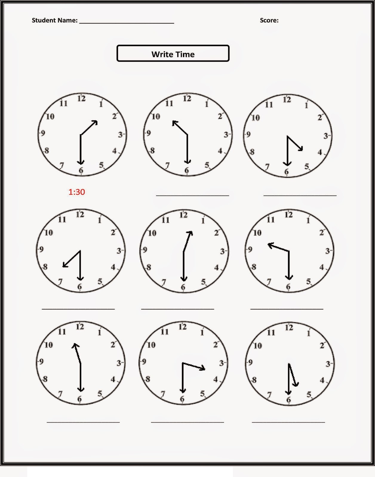 Printable Toddler Activities Time