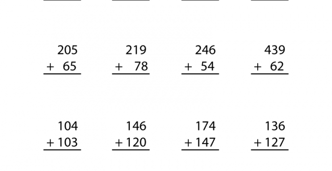 3rd Grade Printable Worksheets Math