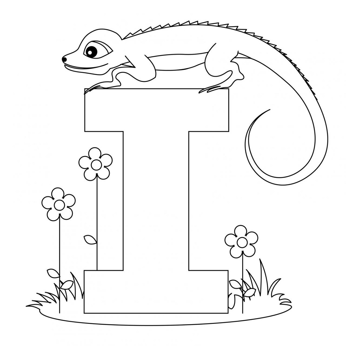 Alphabet Coloring Pages Kids