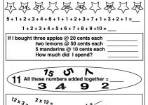 Elementary Math Worksheets Printable
