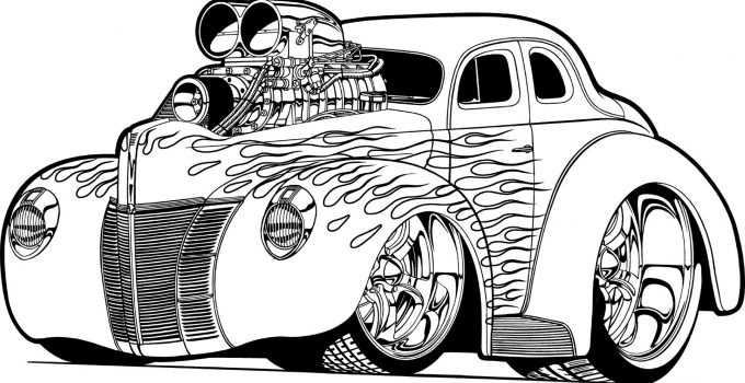 Free Adult Coloring Pages Car
