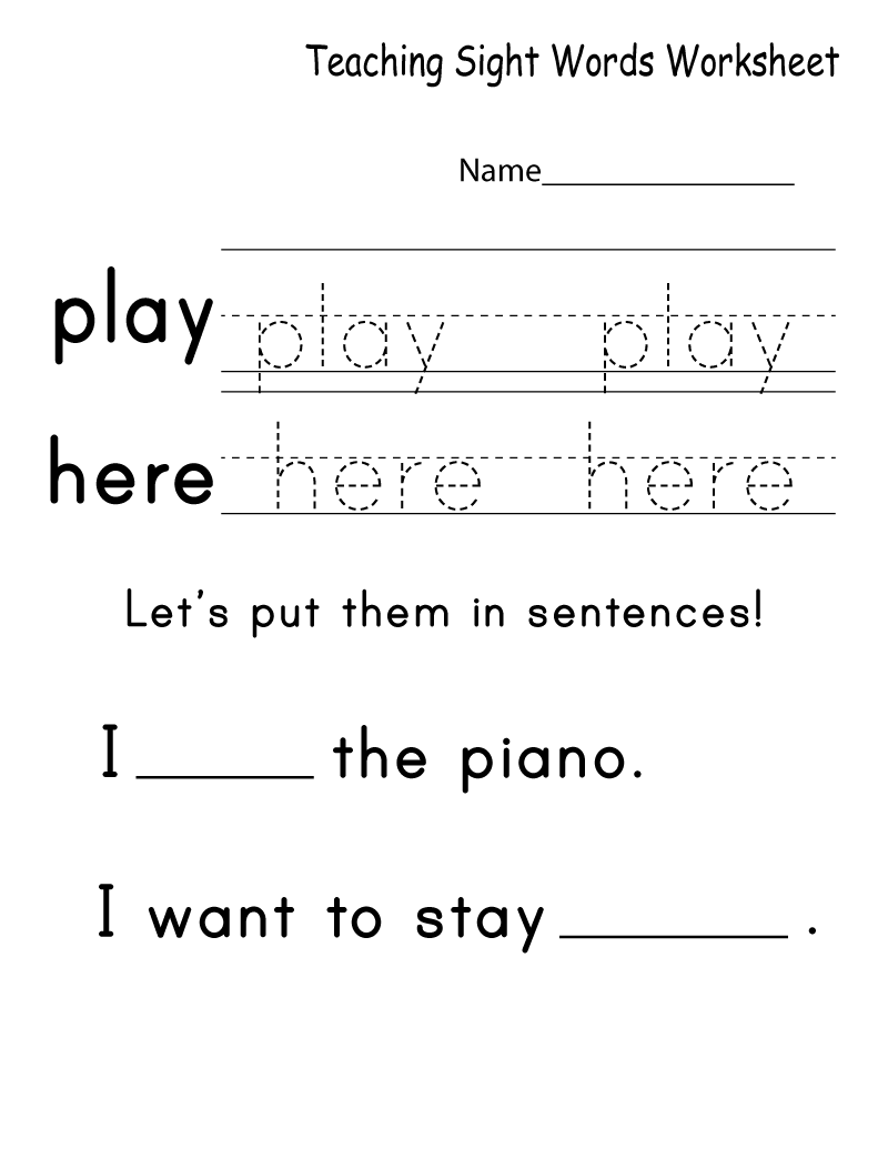 Free Printable Worksheets for Teachers Word