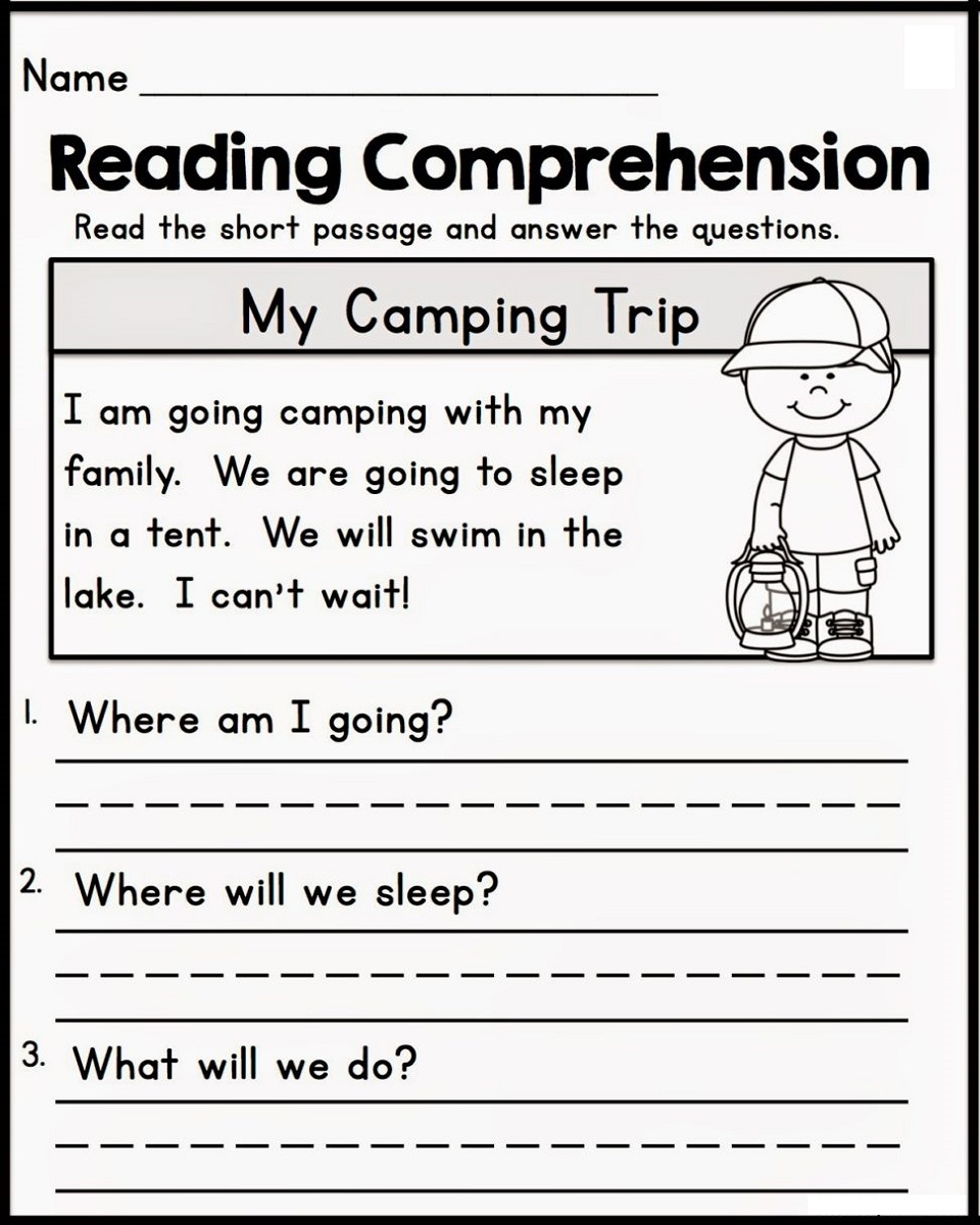 Homework for Kindergarten Worksheets Reading