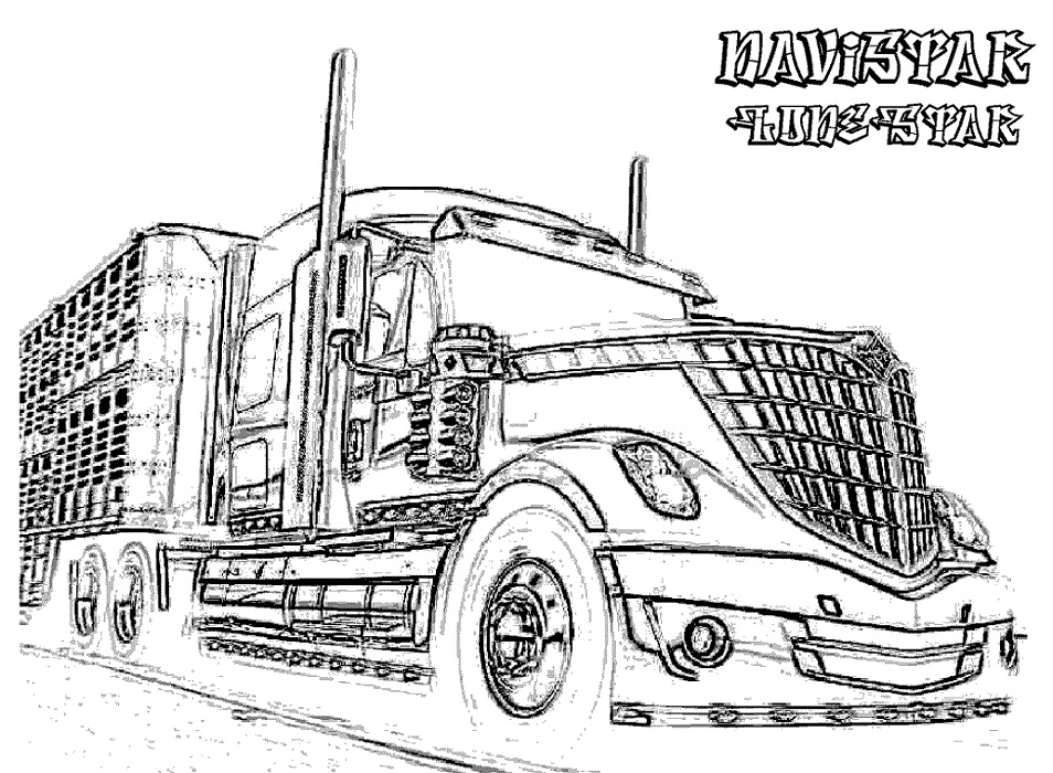 Truck Coloring Pages for Boys