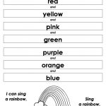 English Worksheets for Children Rainbow