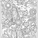 Free Printable Coloring Pages for Adults Cats
