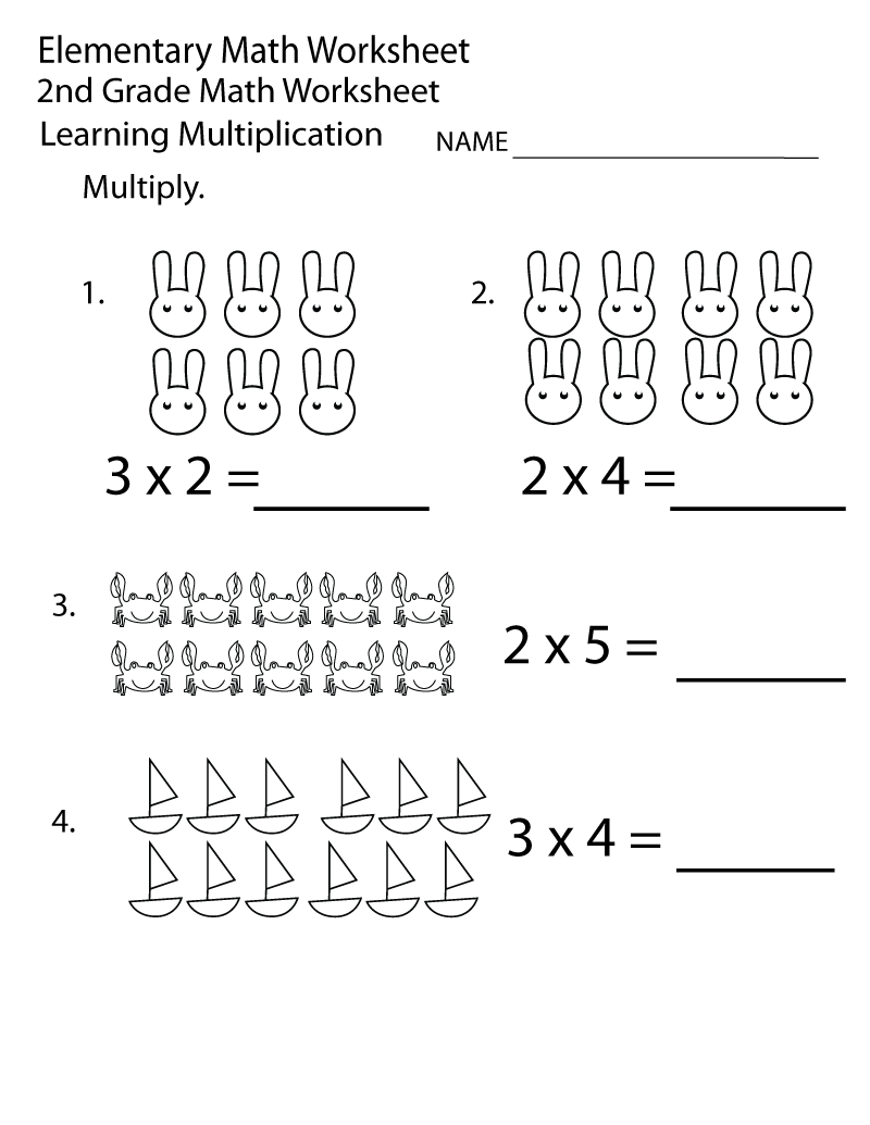 Math Multiplication Worksheets 2nd