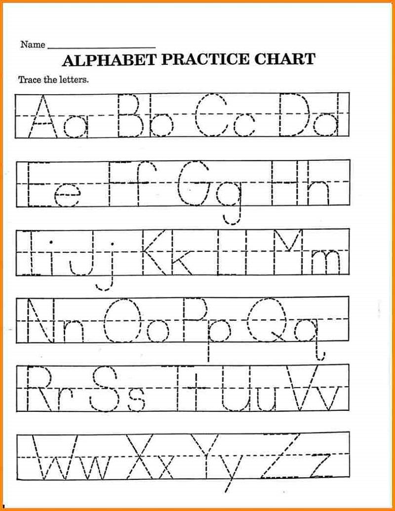 Pre K Math Worksheets Alphabet