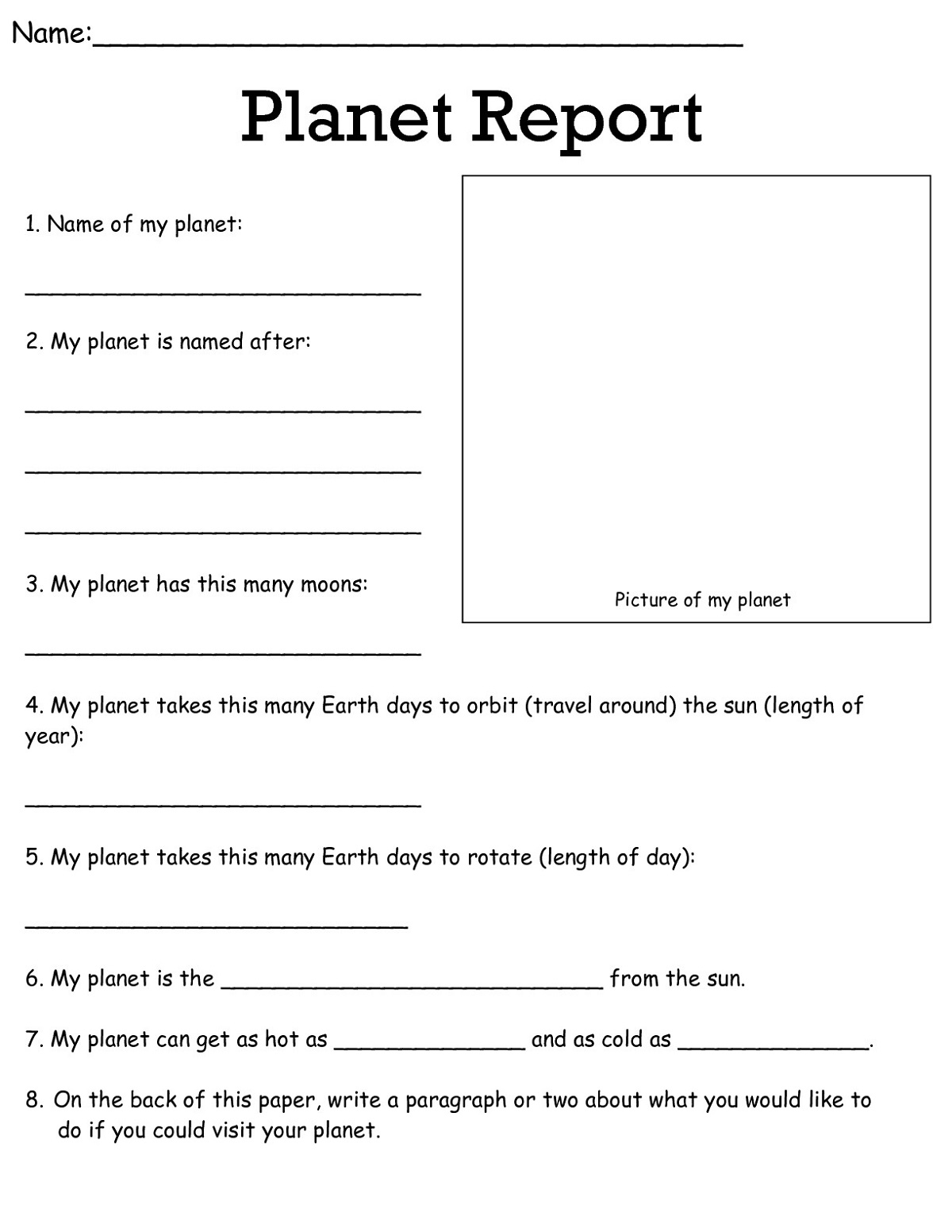 3rd Grade Worksheets Science