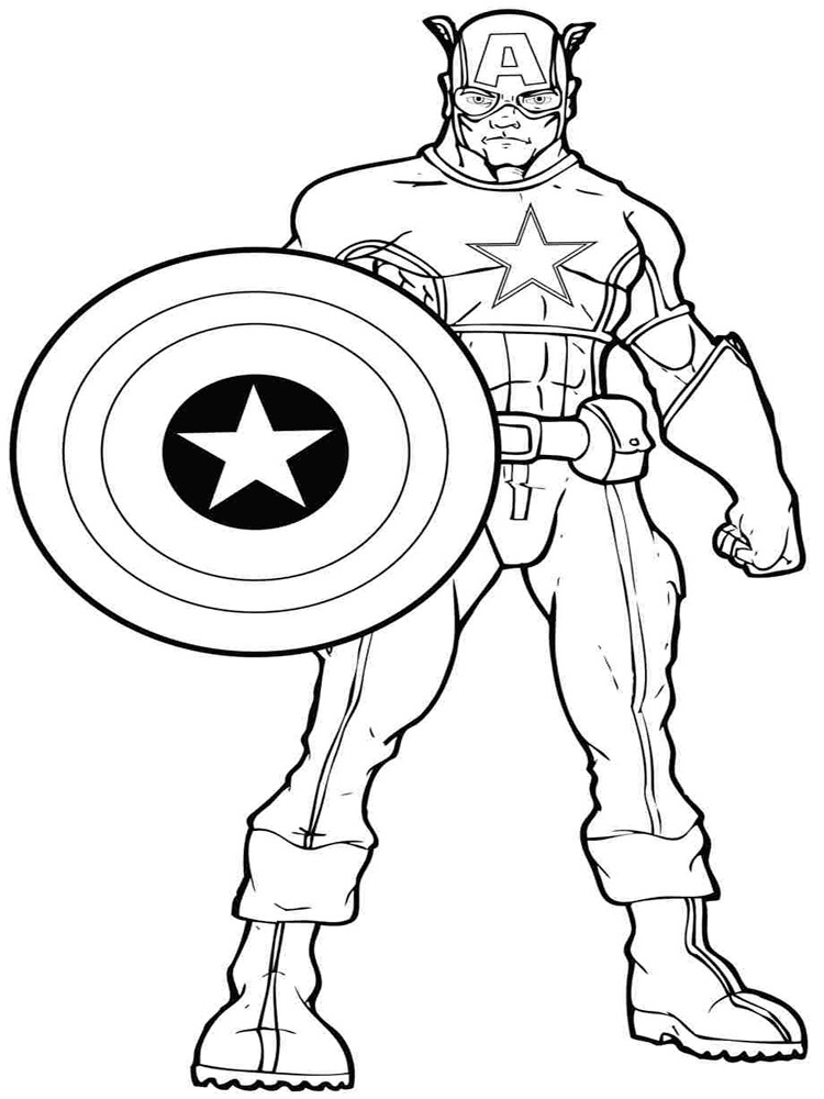 Coloring Sheets for Boys Hero