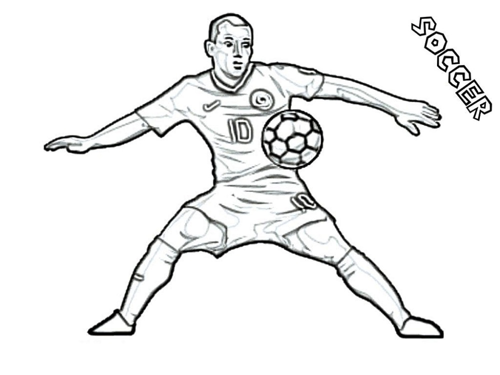 Coloring Sheets for Boys Soccer