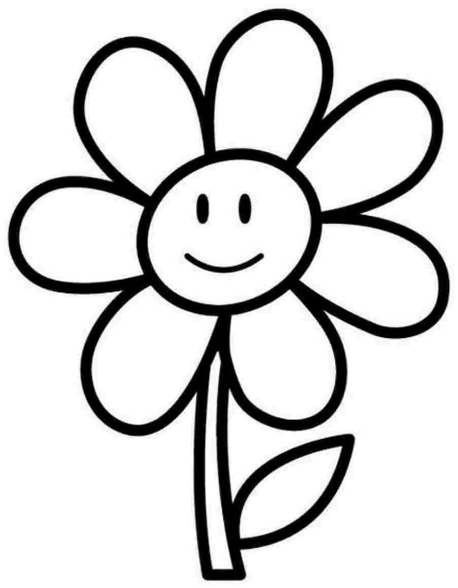 Coloring Sheets for Kindergarten Flower