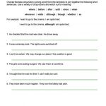 Ks2 English Worksheets Connectives