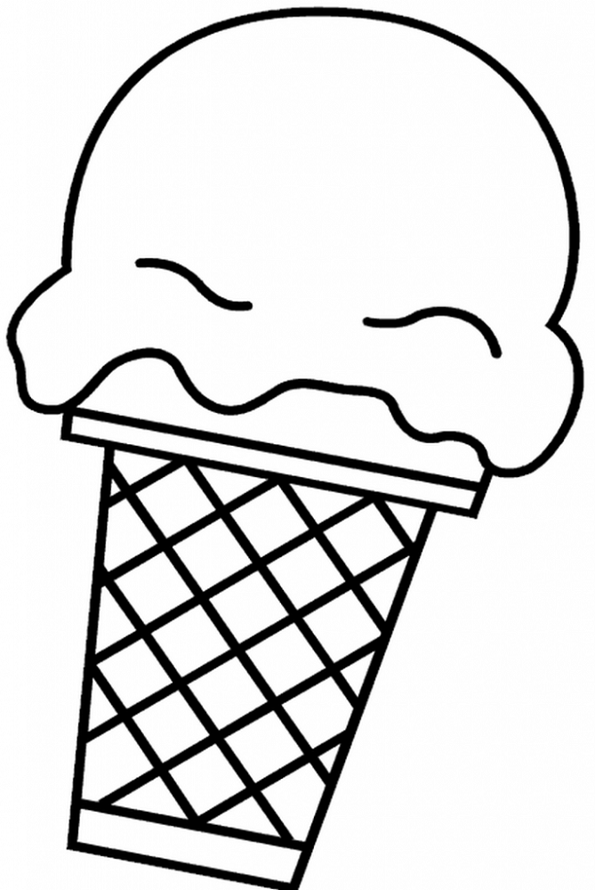 Free Easy Coloring Pages Ice