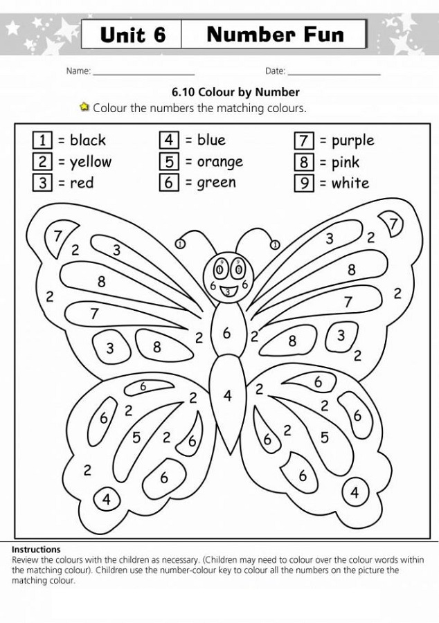 Free Printable Activities for Toddlers Colour