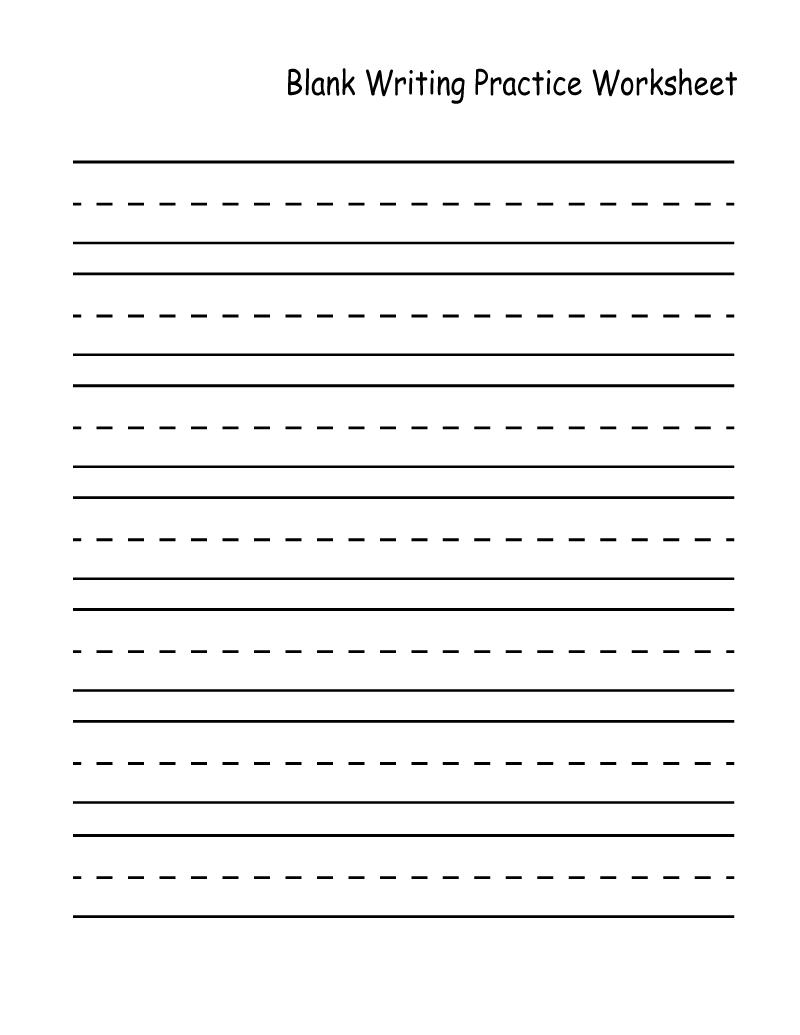 Kindergarten Practice Worksheets Blank