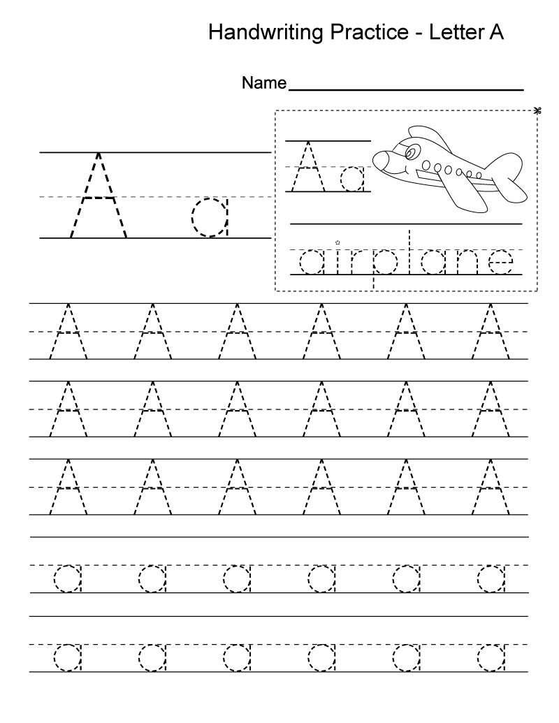 Kindergarten Practice Worksheets Handwriting