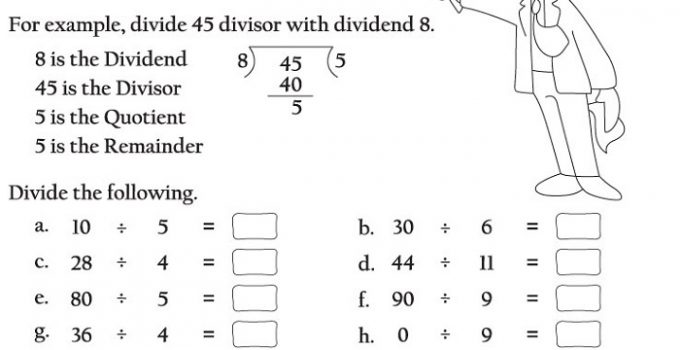 Ks2 Maths Worksheets Division