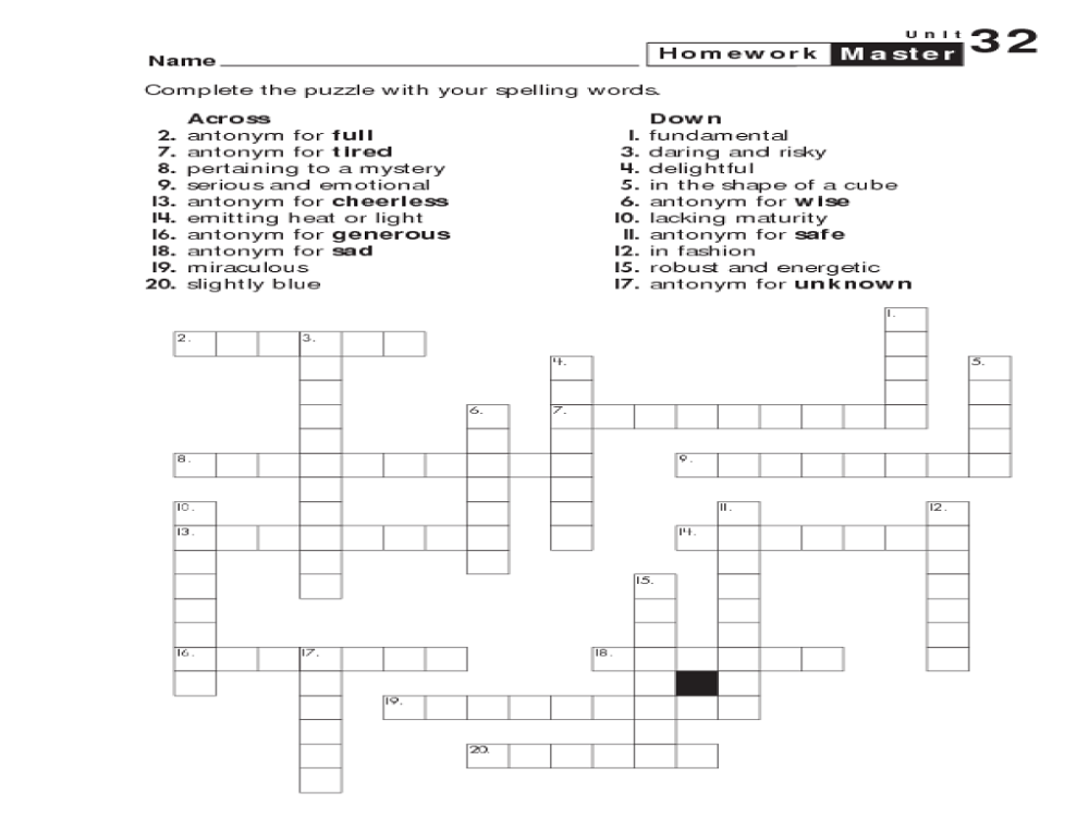 6th Grade Worksheets Puzzle