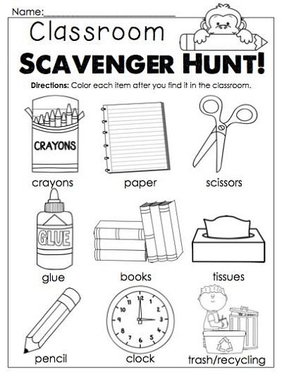 Classroom Worksheets Kindergarten