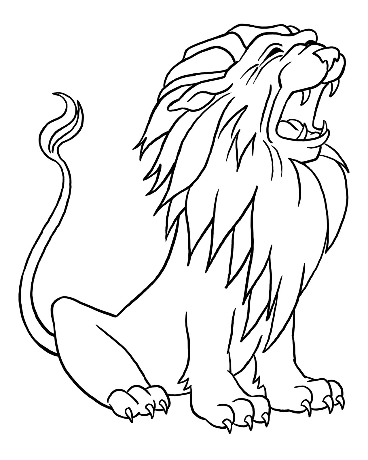 Coloring for Toddlers Printable Lion
