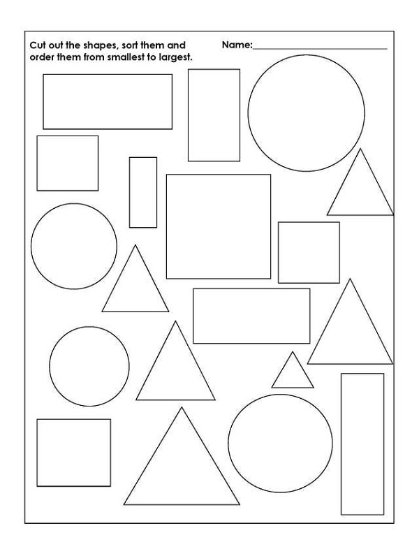 Grade R Worksheets Printable Free Shape