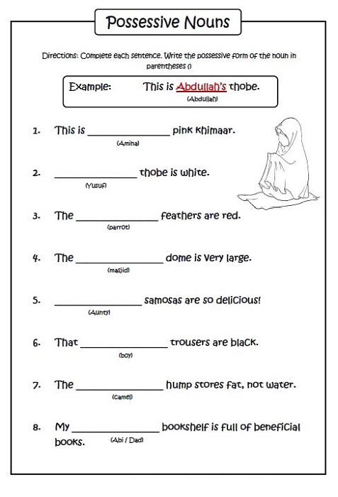 Worksheets for 6 Year Olds English