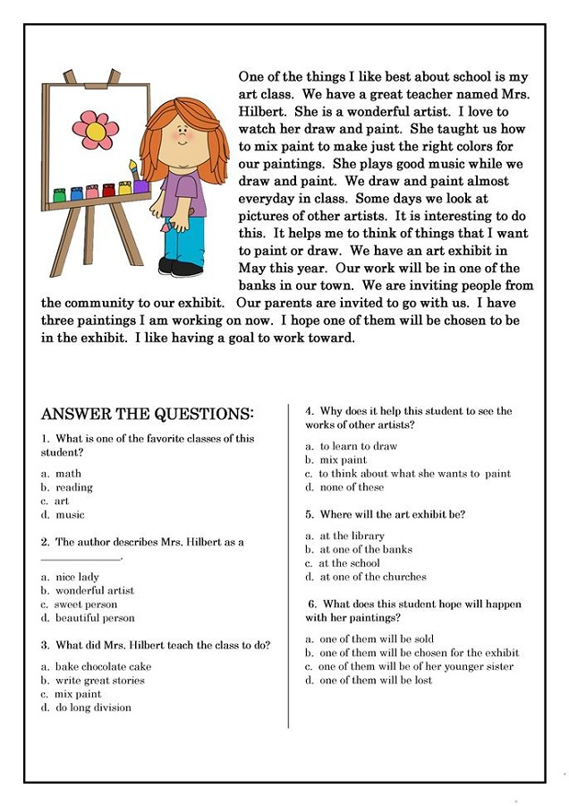 Printable Worksheets For Elementary Students Learning Printable