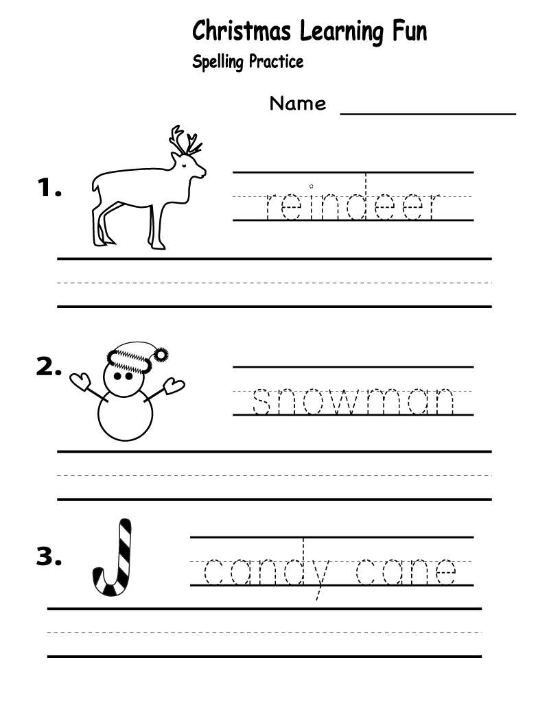 Worksheets for Elementary Students Spelling