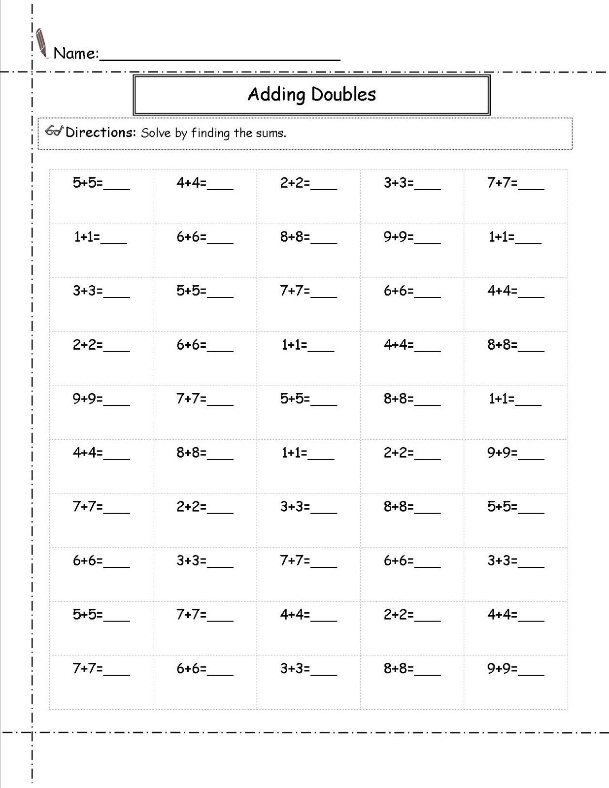 Printable 2nd Grade Math Worksheets Free
