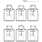 Kindergarten Printable Worksheets Math