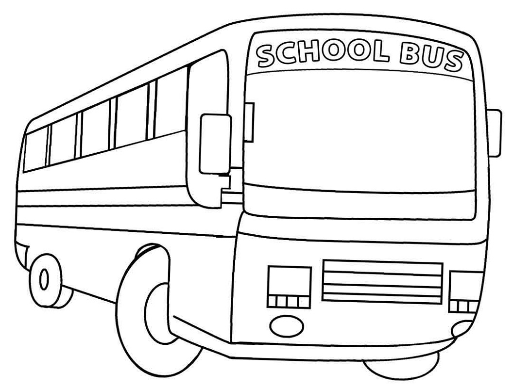 Free Coloring Pages for Kids Bus