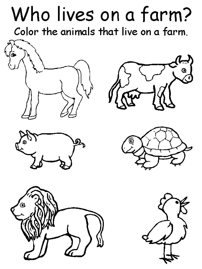Coloring Worksheets for Kids Farm