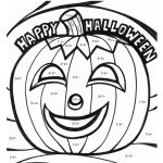 Math Coloring Worksheets Halloween