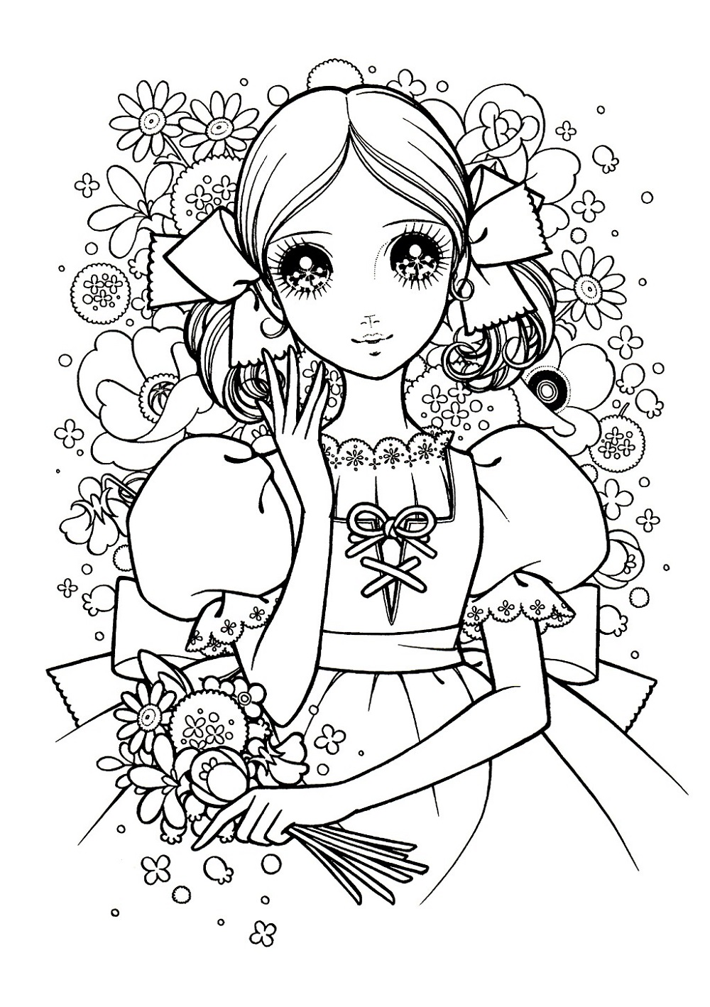 Online Coloring Pages for Kids Anime